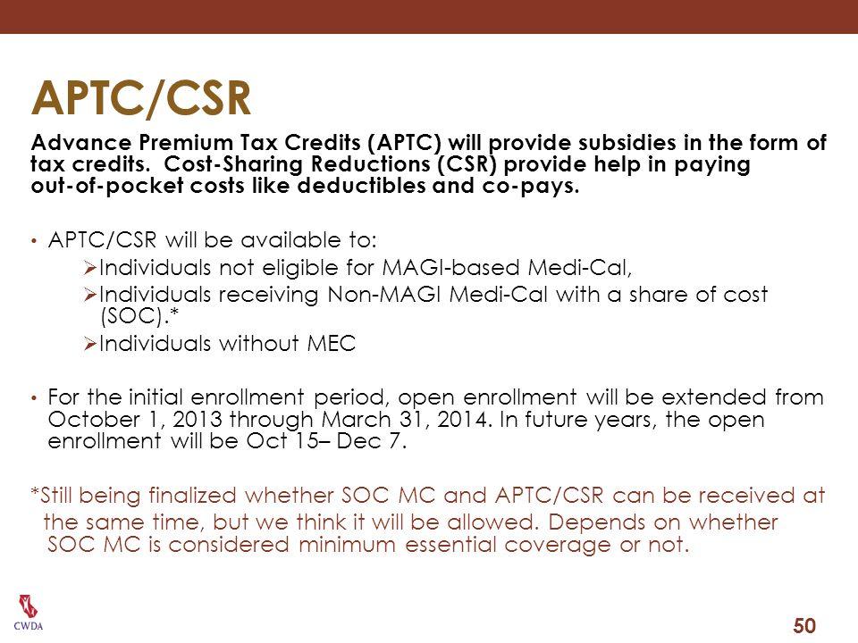 APTC/CSR