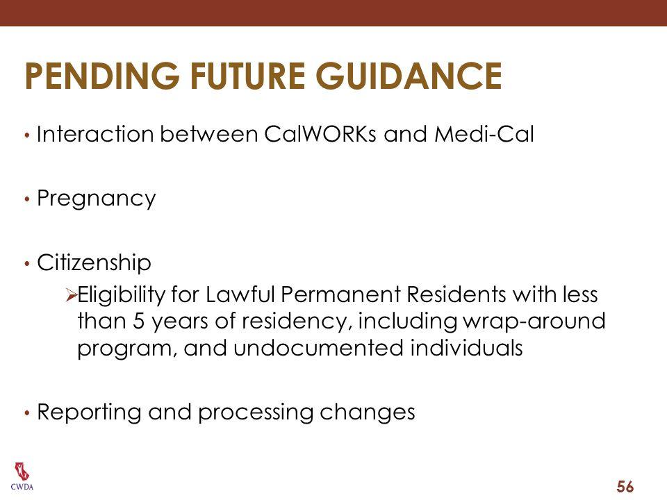 PENDING FUTURE GUIDANCE