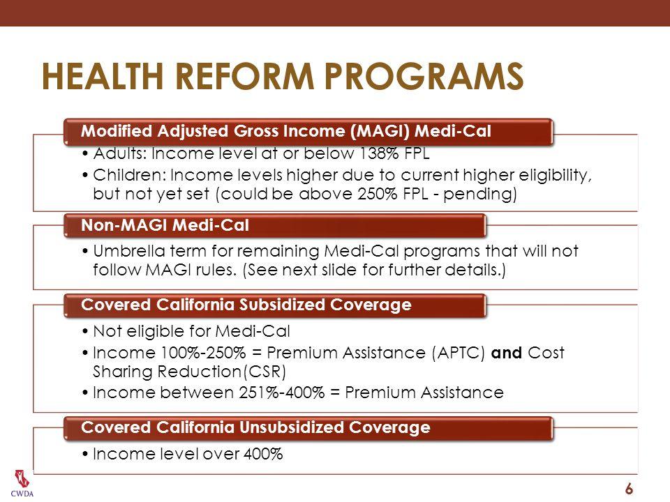 HEALTH REFORM PROGRAMS