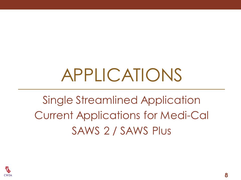 applications Single Streamlined Application