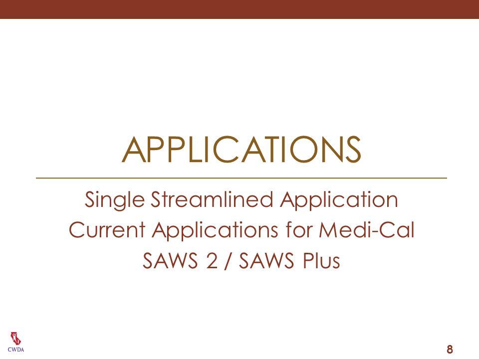 applications Single Streamlined Application