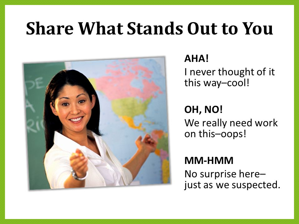 Share What Stands Out to You
