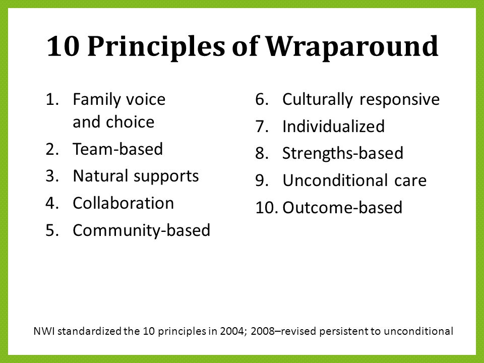 10 Principles of Wraparound