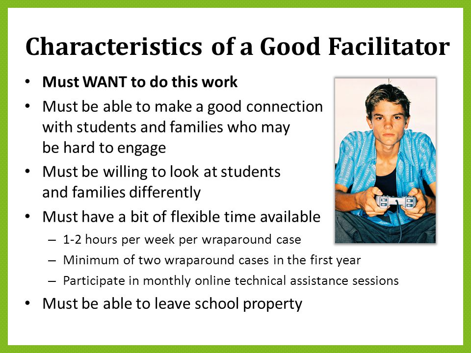 Characteristics of a Good Facilitator