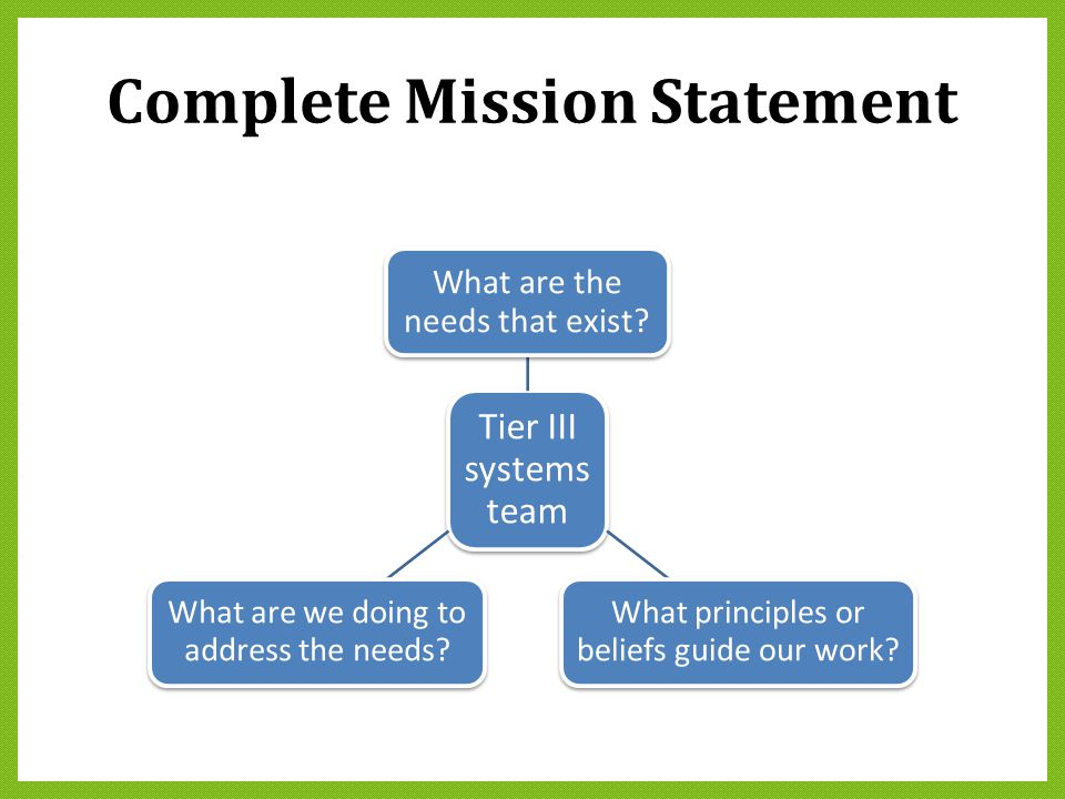 Complete Mission Statement