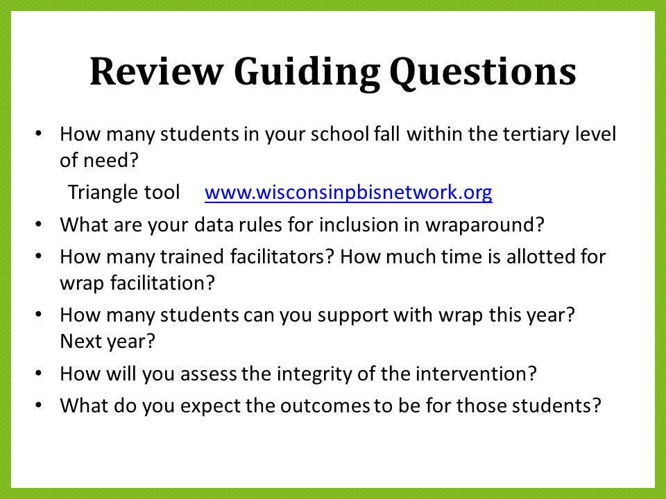 Review Guiding Questions