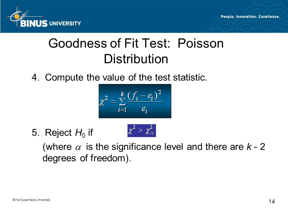 Goodness of Fit Test: Poisson Distribution