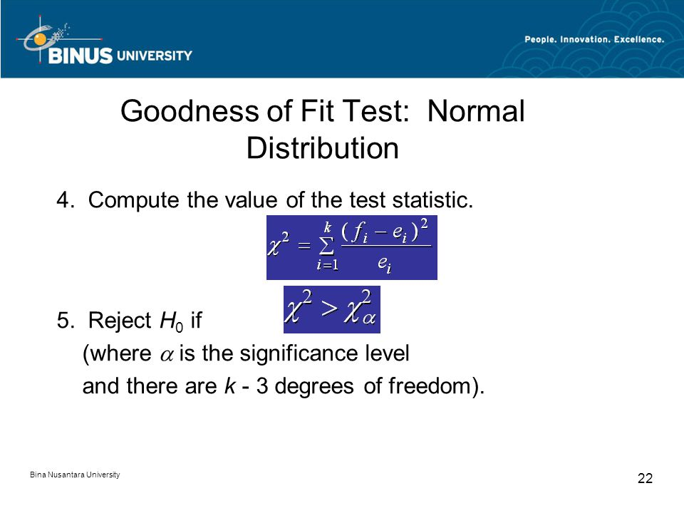 Goodness of Fit Test: Normal Distribution