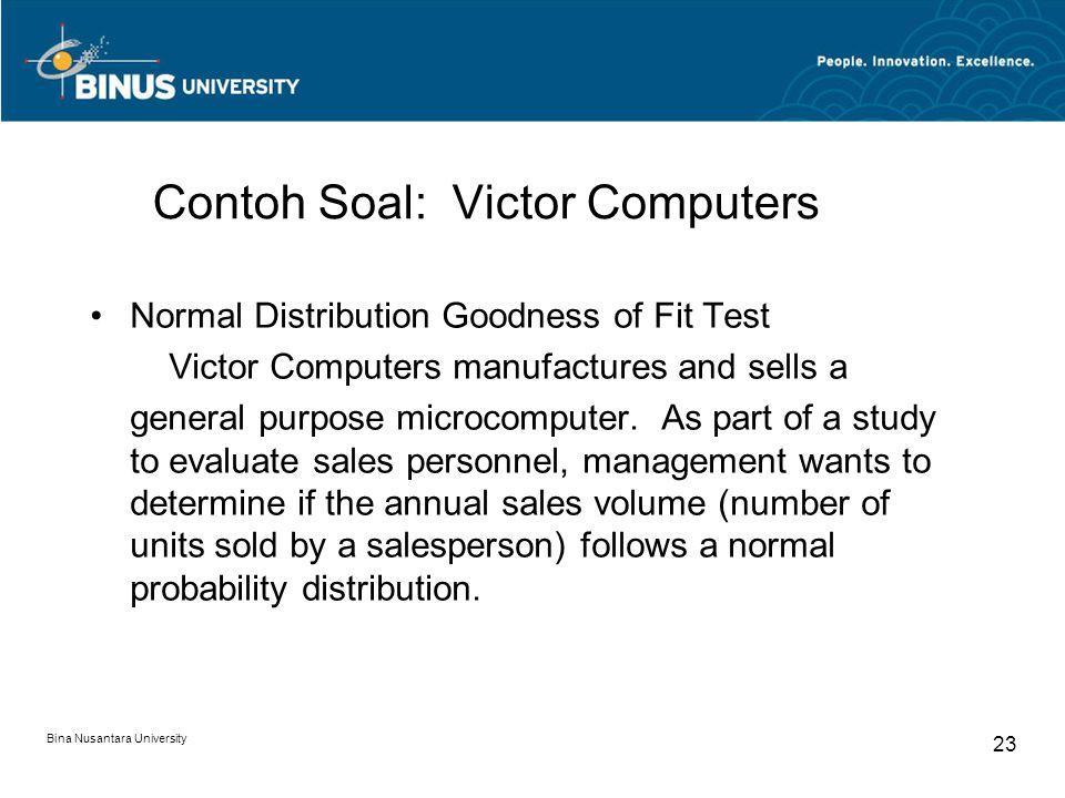 Contoh Soal: Victor Computers