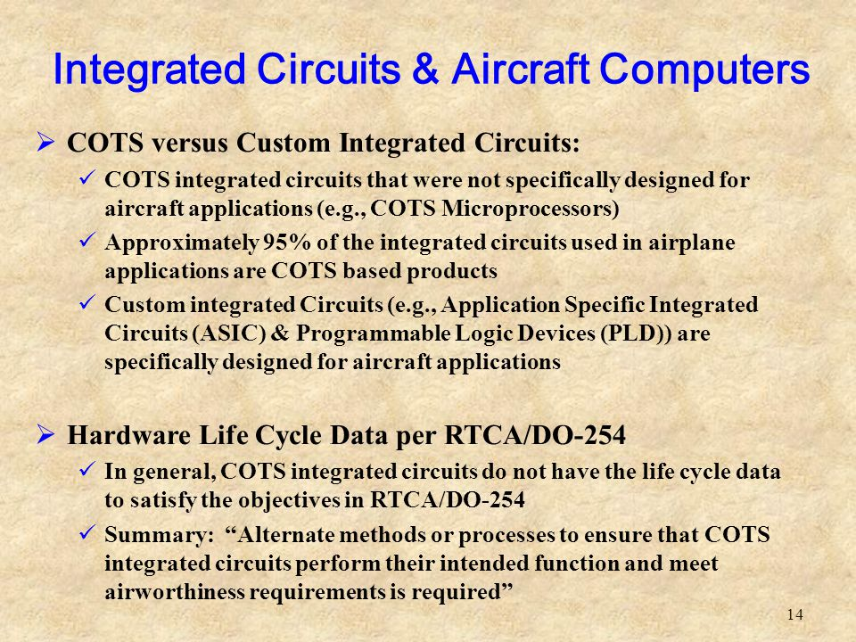 Integrated Circuits & Aircraft Computers