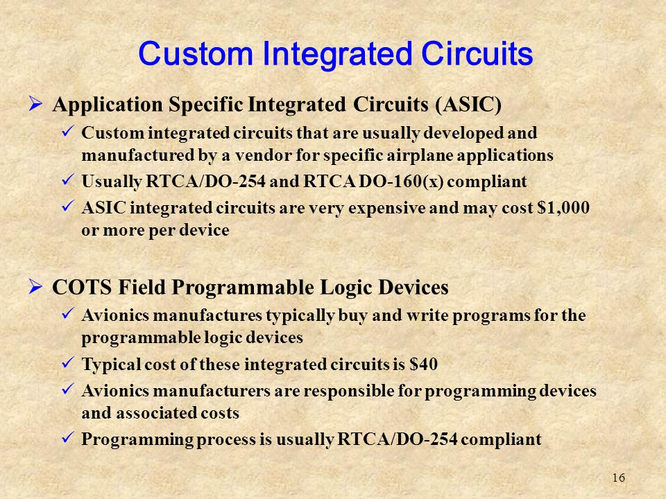 Custom Integrated Circuits