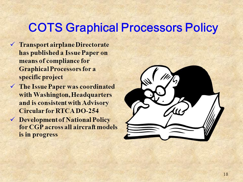 COTS Graphical Processors Policy