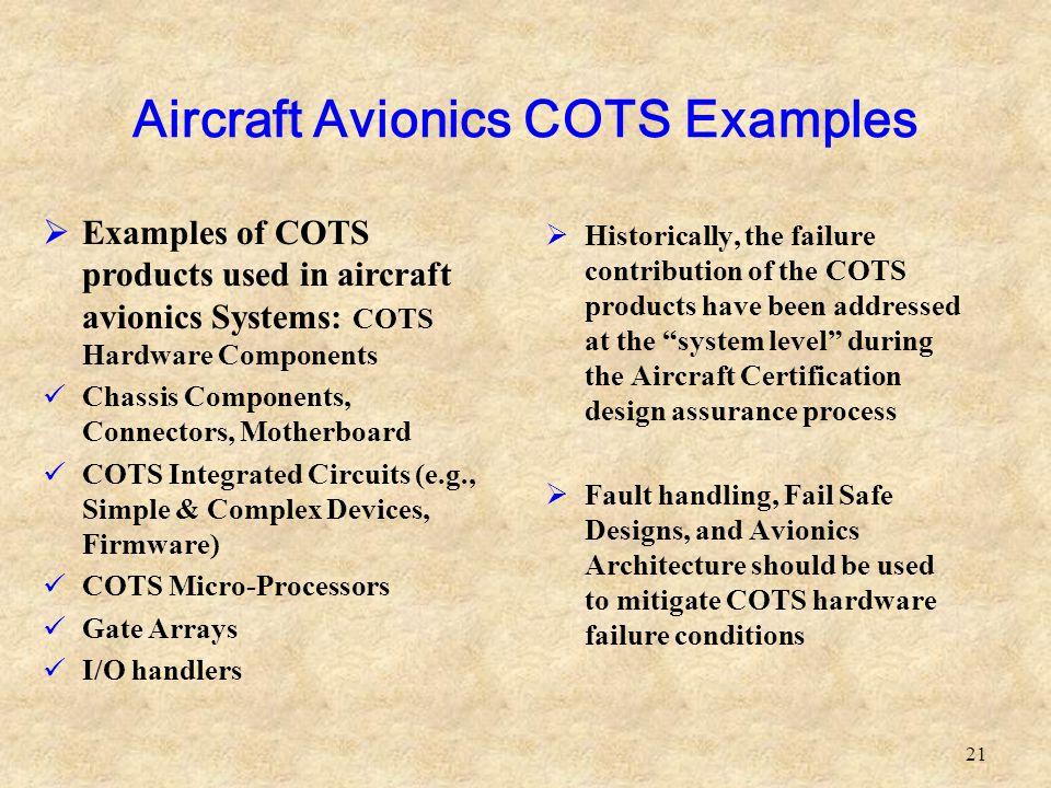 Aircraft Avionics COTS Examples