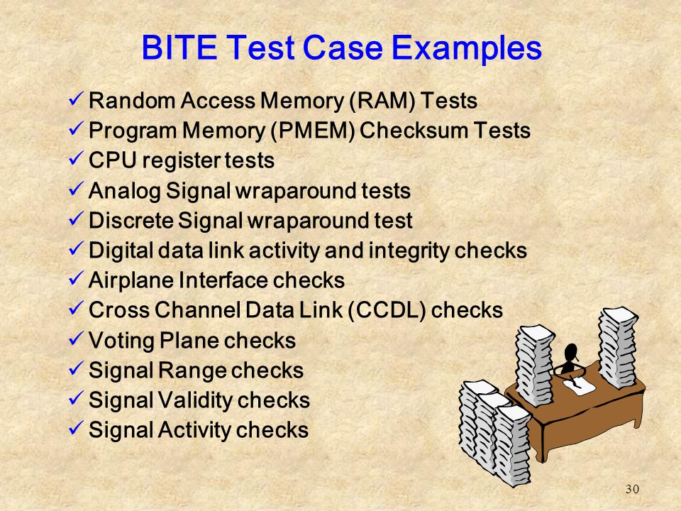 BITE Test Case Examples
