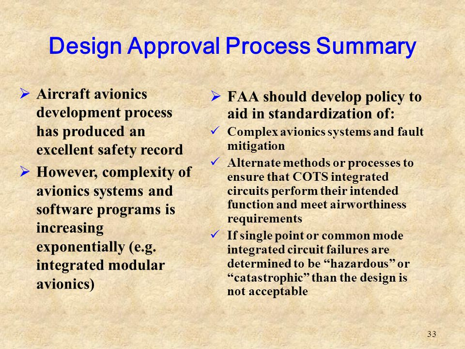 Design Approval Process Summary