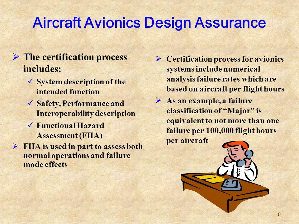 Aircraft Avionics Design Assurance