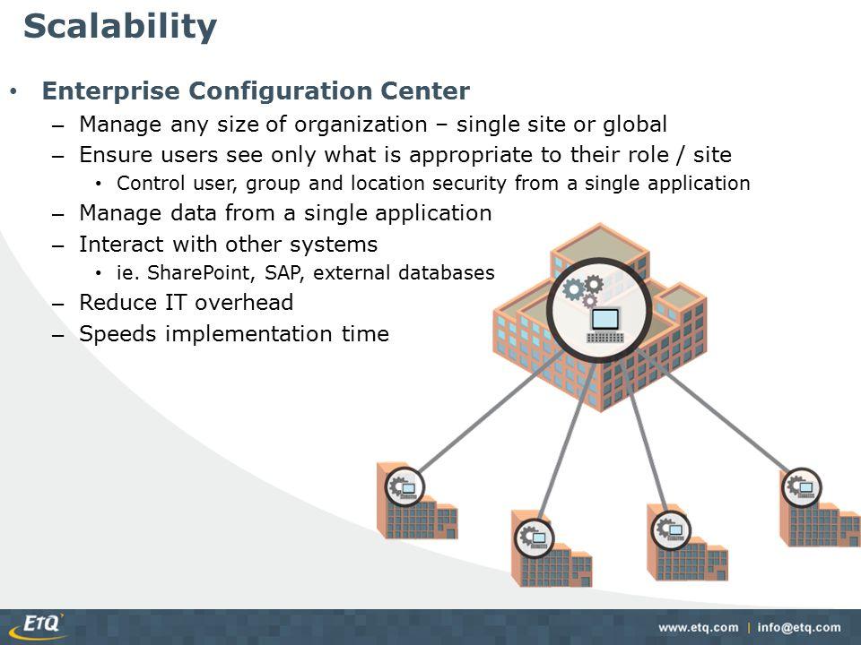Scalability Enterprise Configuration Center