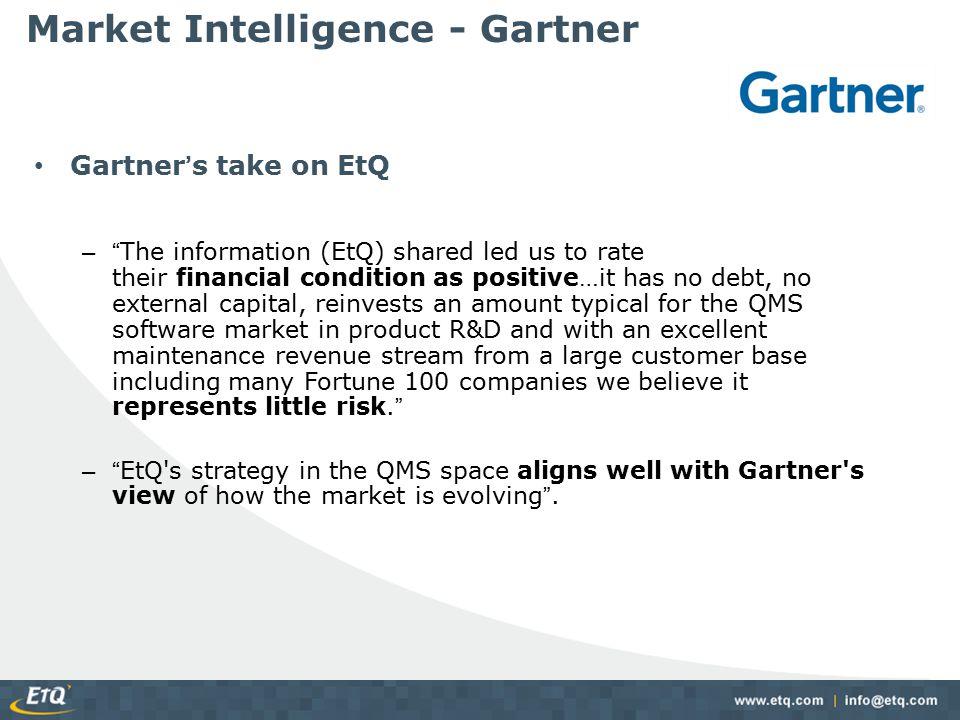 Market Intelligence - Gartner