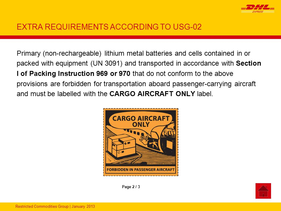 EXTRA REQUIREMENTS ACCORDING TO USG-02
