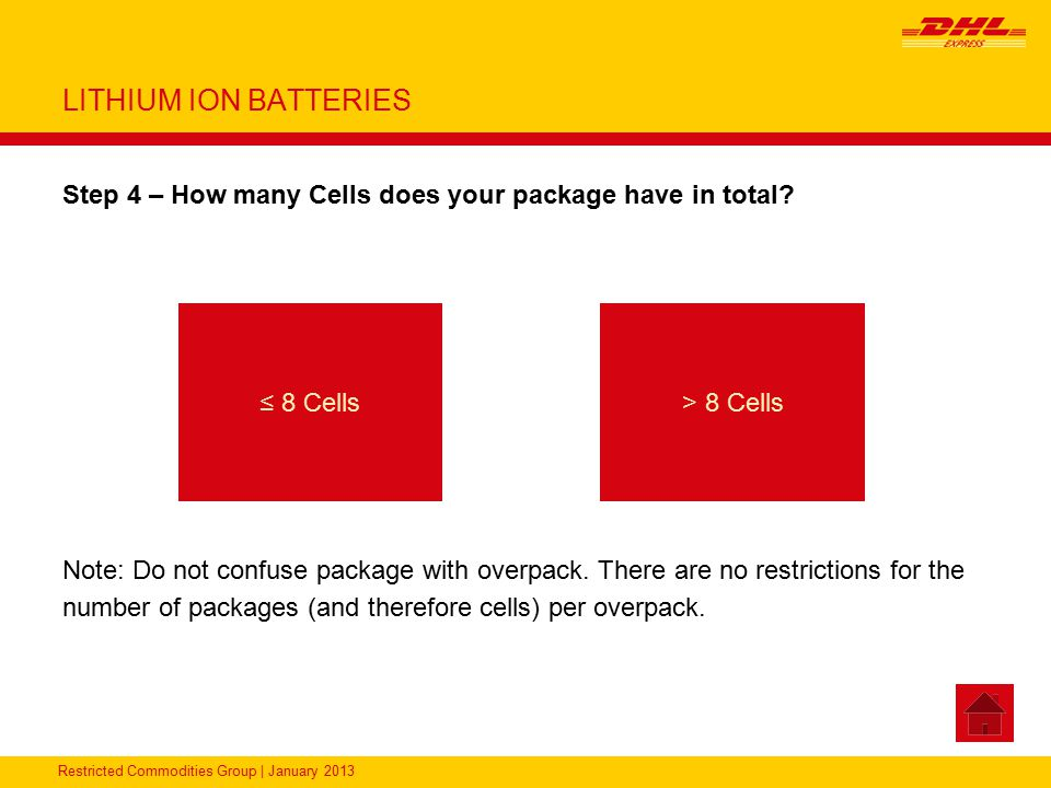 LITHIUM ION BATTERIES Step 4 – How many Cells does your package have in total