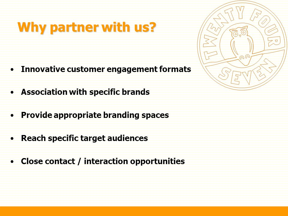 Why partner with us Innovative customer engagement formats