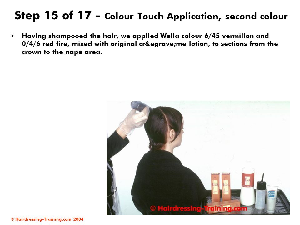 Step 15 of 17 - Colour Touch Application, second colour