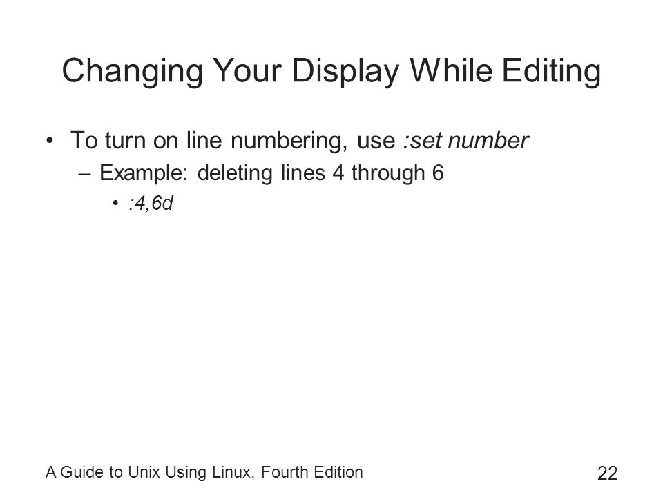 Changing Your Display While Editing