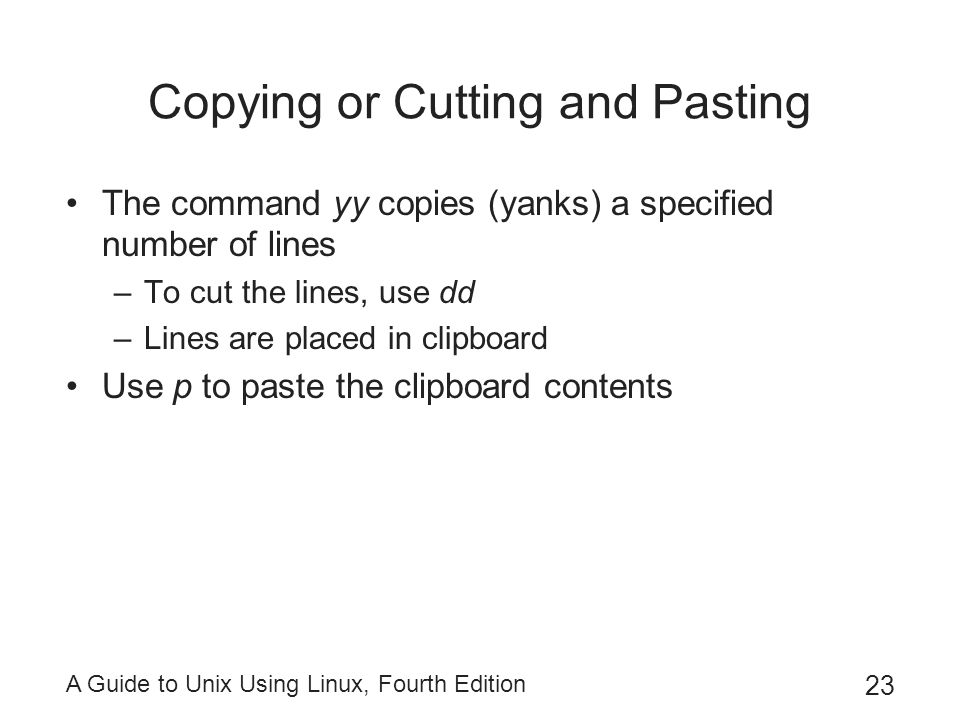 Copying or Cutting and Pasting