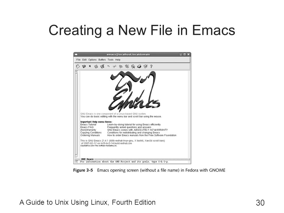 Creating a New File in Emacs