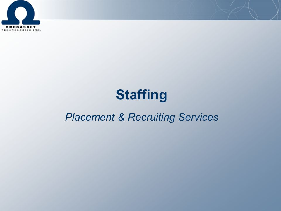 Placement & Recruiting Services