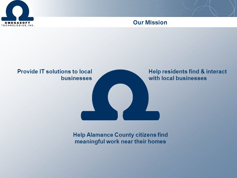 Help Alamance County citizens find meaningful work near their homes
