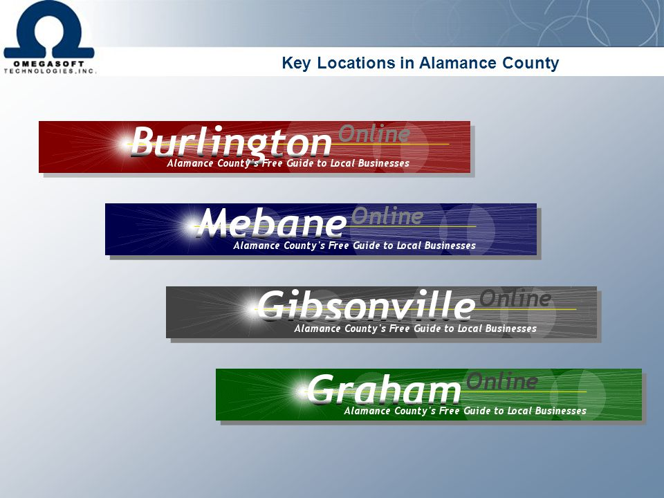 Key Locations in Alamance County