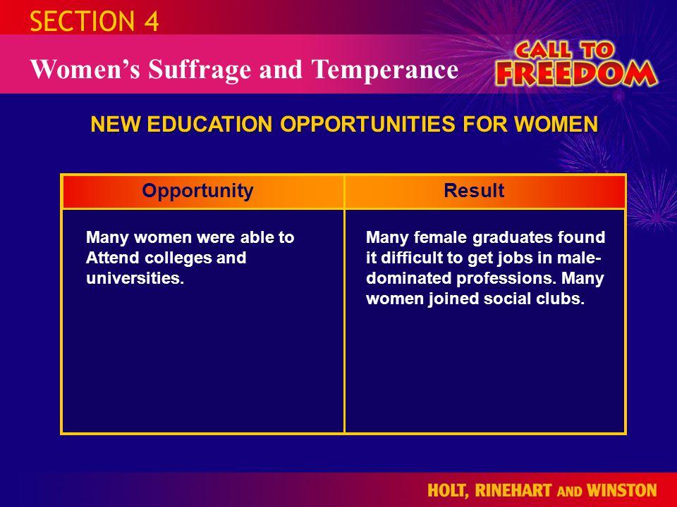 NEW EDUCATION OPPORTUNITIES FOR WOMEN