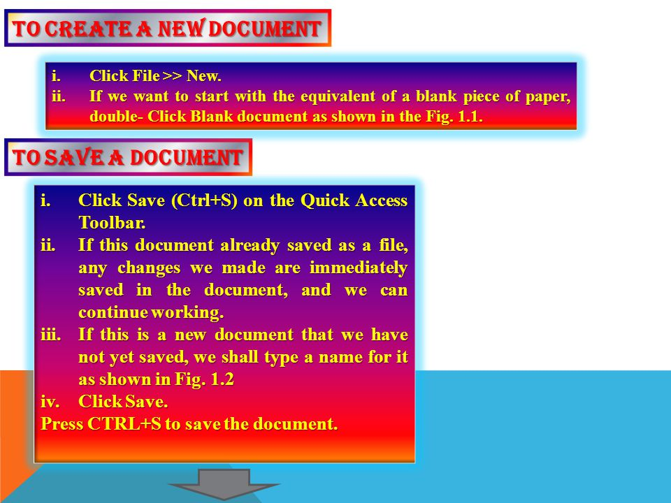 To create a new document