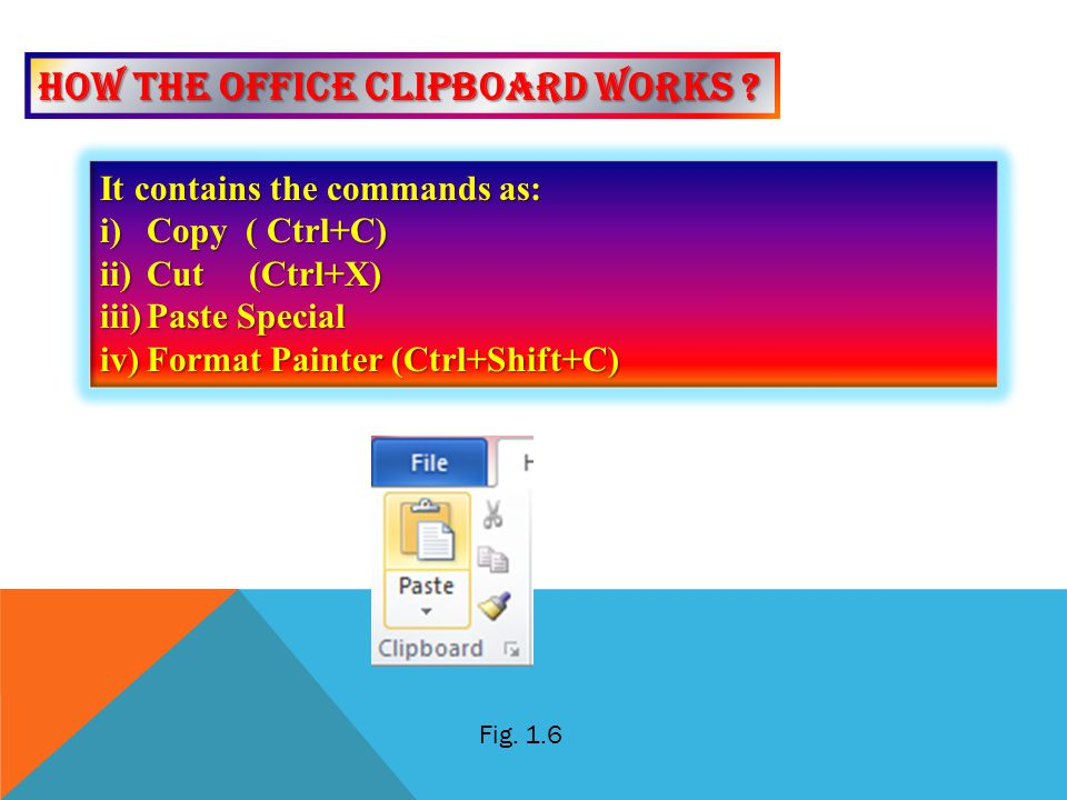 How the office clipboard works