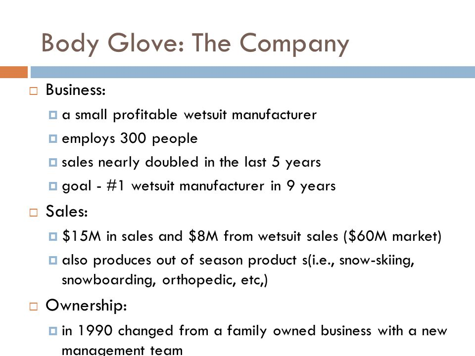 Body Glove: The Company