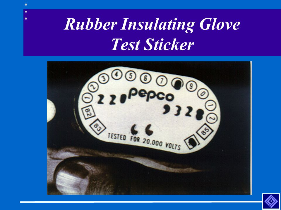 Rubber Insulating Glove Test Sticker