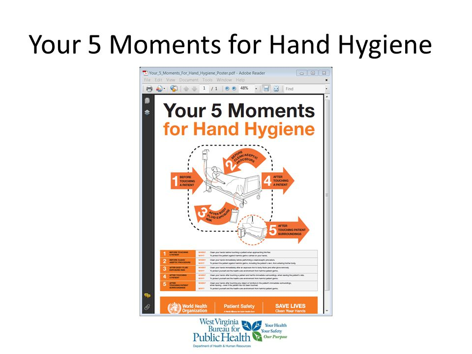 Your 5 Moments for Hand Hygiene