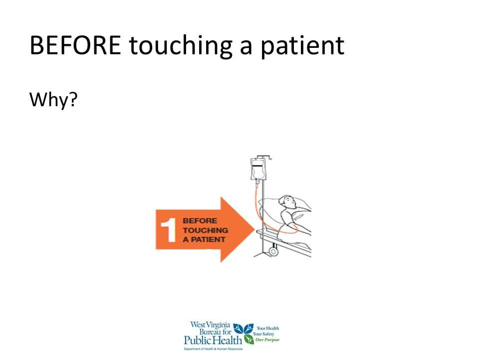 BEFORE touching a patient