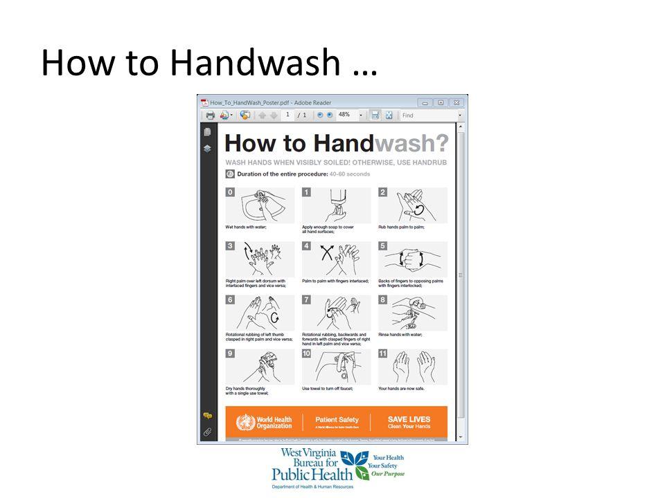 How to Handwash … How to Handwash properly