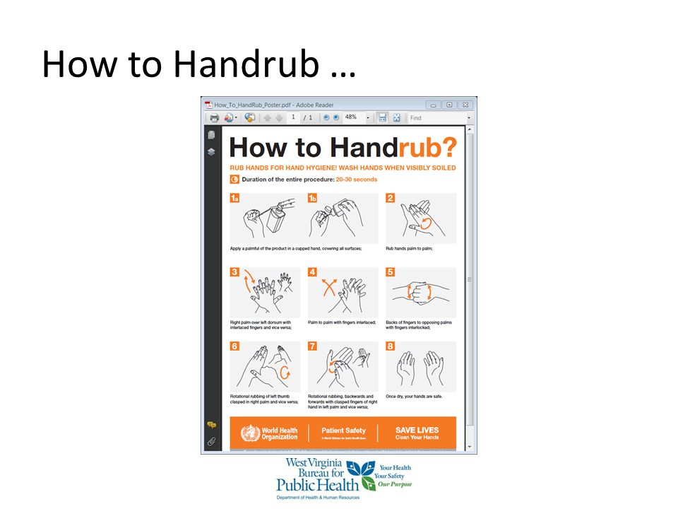How to Handrub … How to Use Hand Rub properly