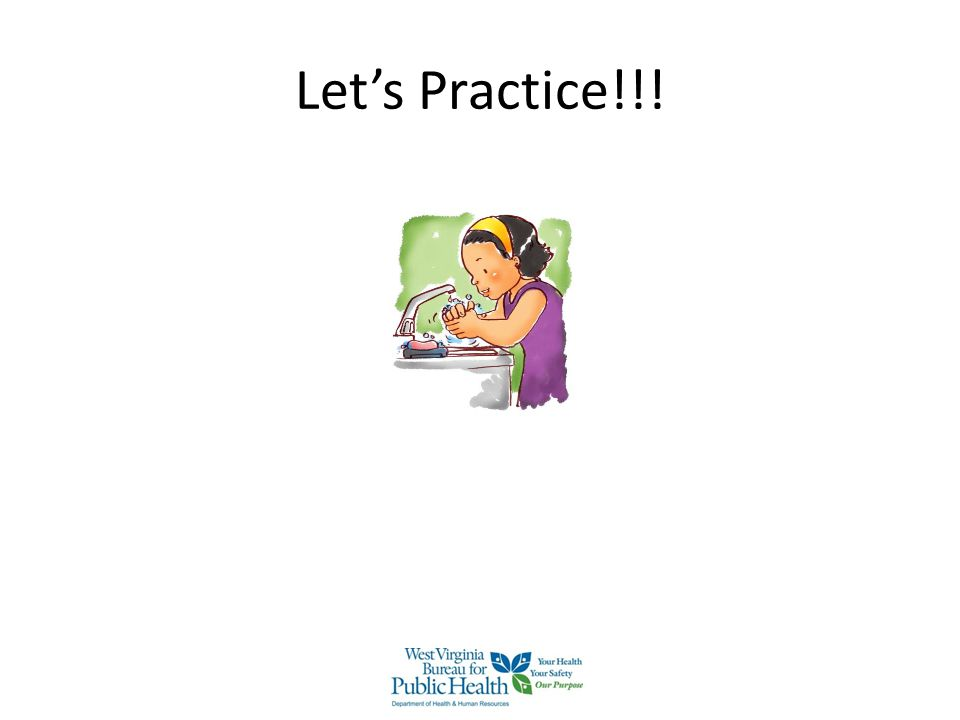Let's Practice!!! Demonstrate step by step how to hand rub and ask the audience to participate