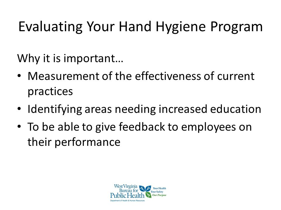 Evaluating Your Hand Hygiene Program
