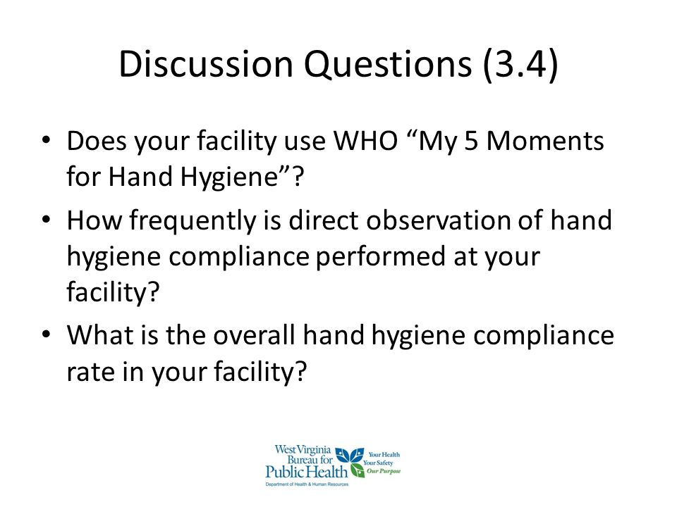 health and hygiene questions