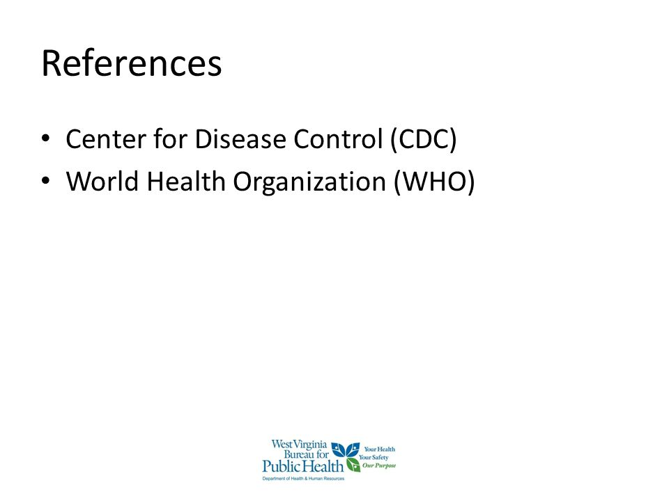 References Center for Disease Control (CDC)