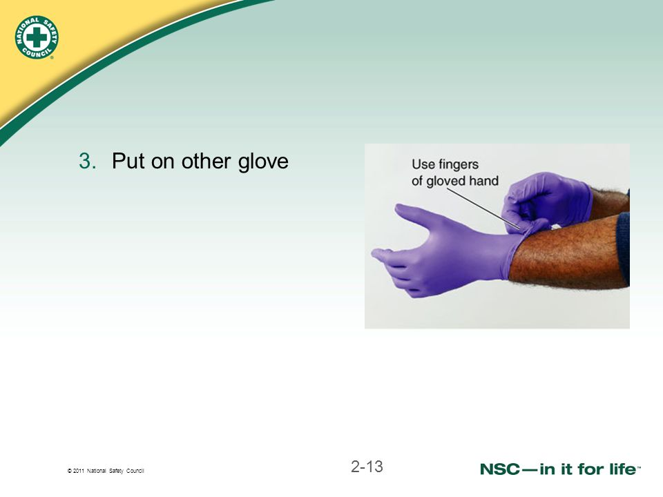 Put on other glove