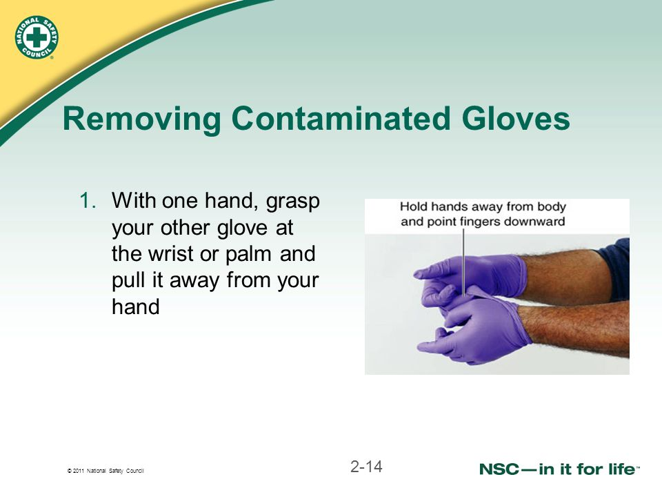Removing Contaminated Gloves