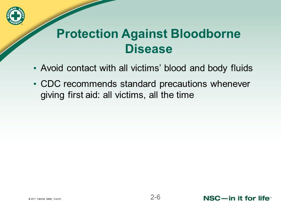 Protection Against Bloodborne Disease