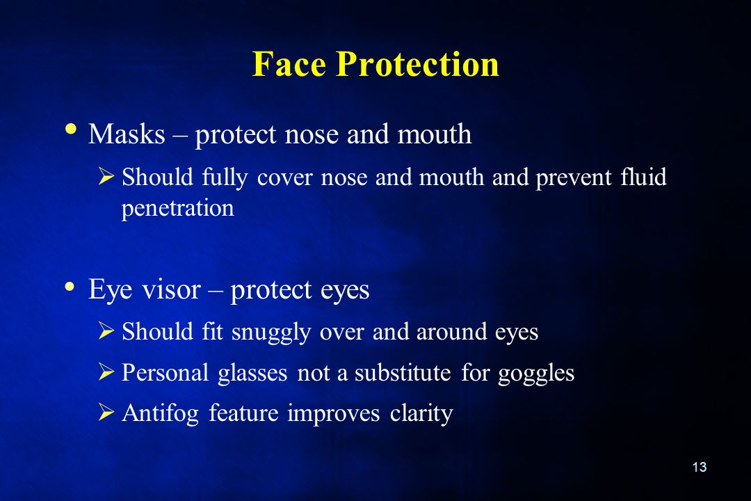 Face Protection Masks – protect nose and mouth