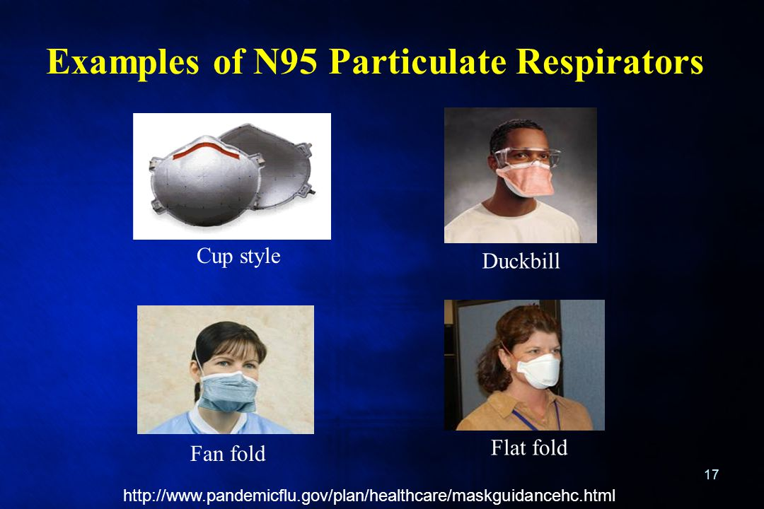 Examples of N95 Particulate Respirators